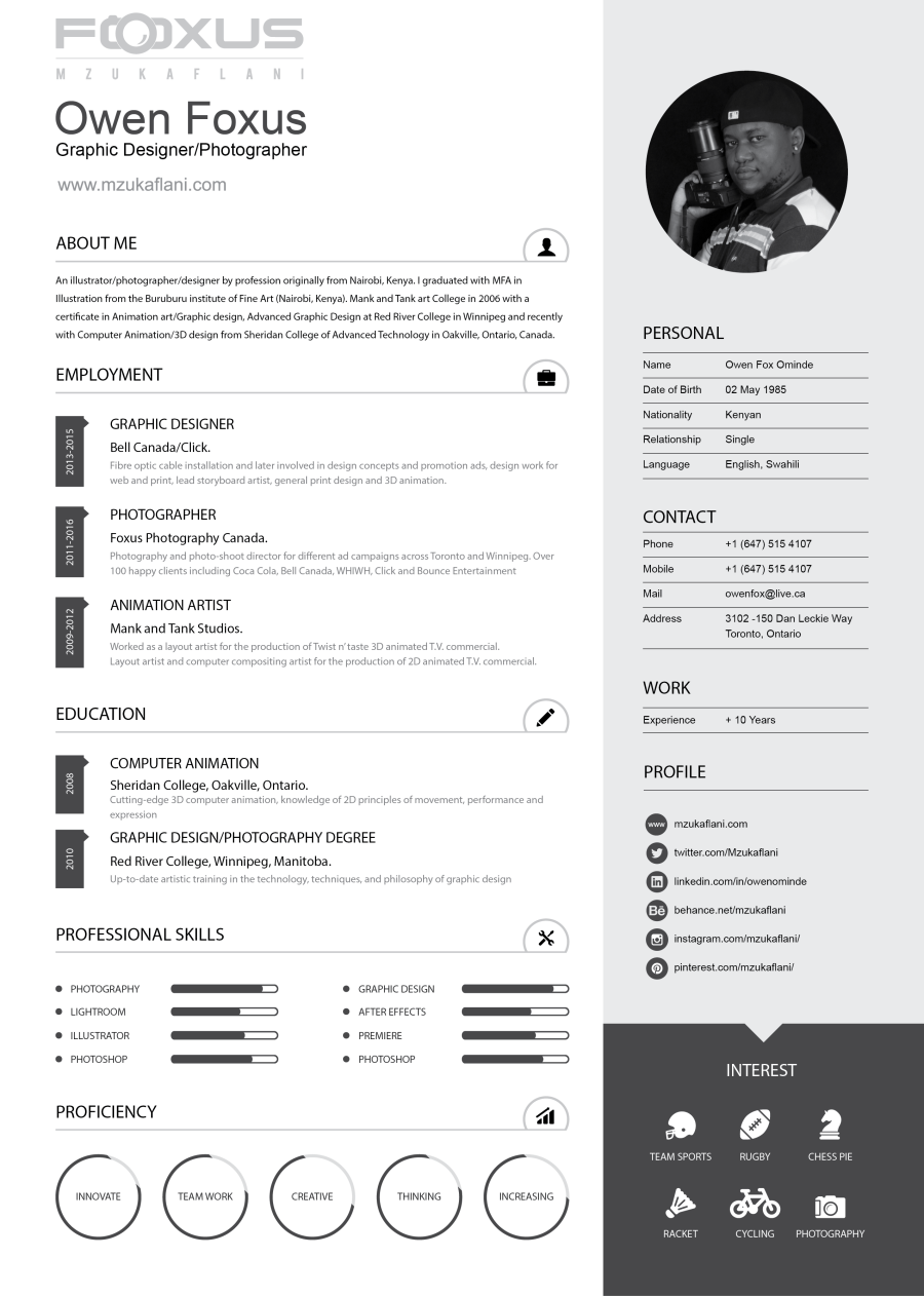 Owen Fox Design Resume